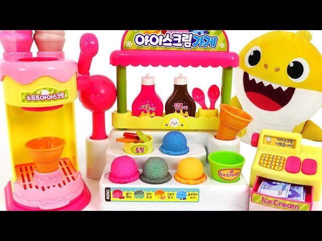 #3 Baby Shark Syrup Ice cream shop play~! Let's make Color Changing Ice cream! | PinkyPopTOY