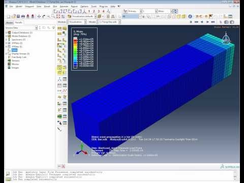 FEA Analysys - Abaqus: Stress wave propagation in a bar - Nonlinear Explicit Dynamics -
