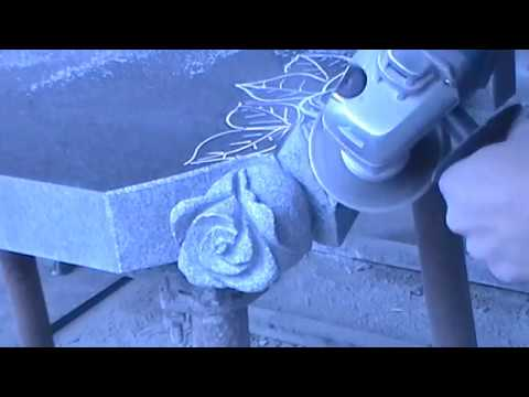 Как вырезать розу из гранита видео