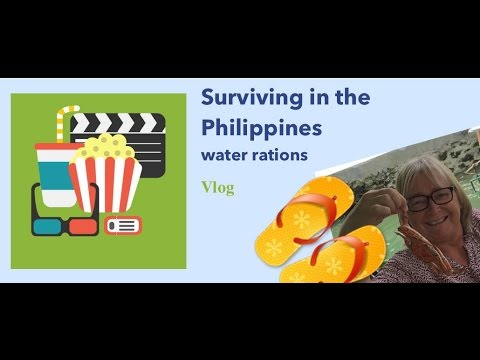 Surviving water rations in the Philippines
