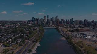 Drone Video Kayaking Bow River, Calgary