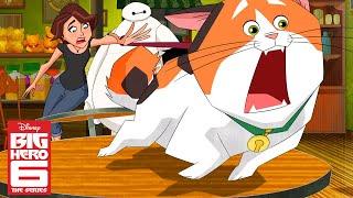 The Hunt for Mochi 😿  Big Hero 6 The Series   Disney XD