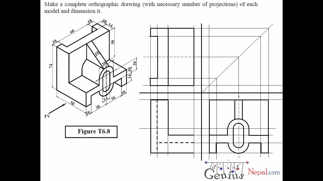 Engineering Drawing Tutorials / Orthographic Drawing
