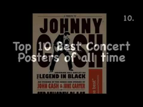 Top 10 Best Concert Posters of all time