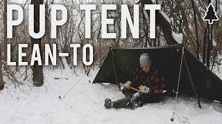 WW2 Pup Tent Lean-To Shelter - Bushcraft