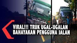 Viral Video Truk Ugal-ugalan Bahayakan Warga