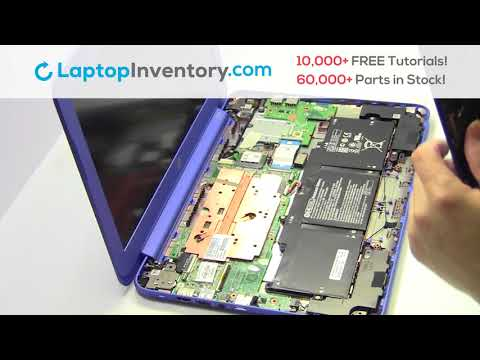 HP Stream 13-C WiFi Card Replacement Disassembly Take Apart