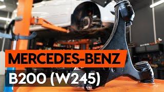 Kā nomainīt priekšējās svira MERCEDES-BENZ B200 (W245) [AUTODOC VIDEOPAMĀCĪBA]