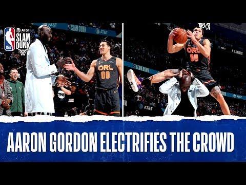 Aaron Gordon OVER Tacko In The #ATTSlamDunk Contest