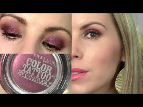 eyeshadow tutorial pomegranate punk maybelline color