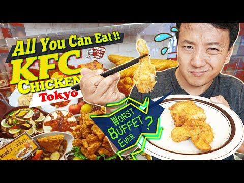 All You Can Eat KFC CHICKEN BUFFET in Tokyo Japan 5 HOUR WAIT WORST Buffet Ever?