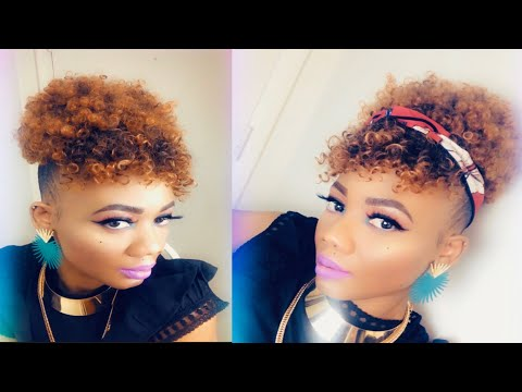 HOW TO || CREATE A UPDO HAIRSTYLE || USING DRAWSTRING PONYTAIL || ON NATURAL 4C HAIR