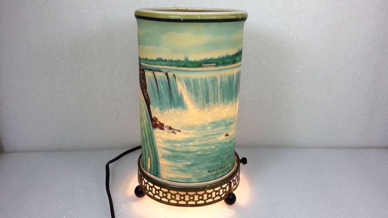 Vintage 1955 Econolite Niagara Falls Motion Lamp Youtube