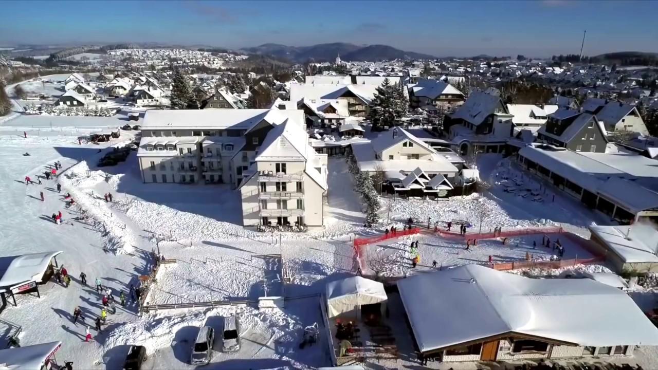 luftaufnahme winterberg sauerland skigebiet drohne schnee winter 2016 youtube. Black Bedroom Furniture Sets. Home Design Ideas