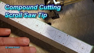 A quick tip hint and example on how to compound cut without having clamp or tape the item back together for the 2nd side. Plans for