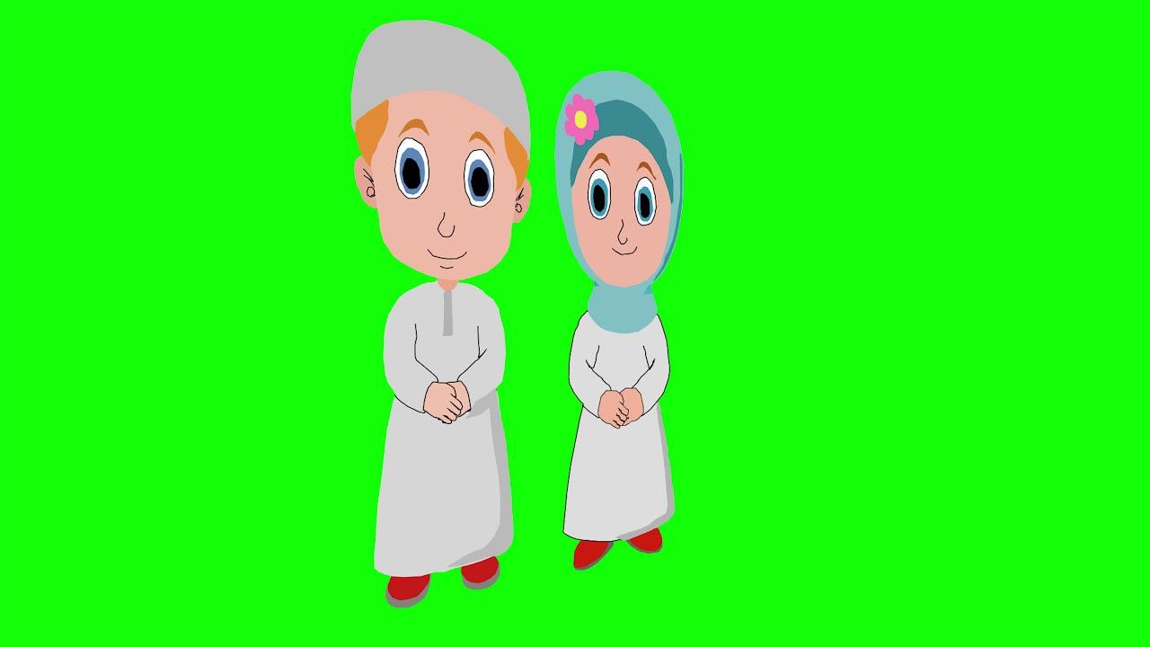 Muslim Couple Green Screen Copyright Free Husband Wife Boy Girl Chrome Key Background Youtube