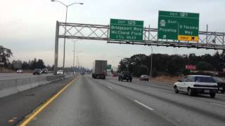 High speed driving at interstate highway in the USA HD and 3D