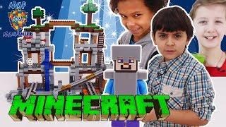 МАЛЬЧИШКИ собирают LEGO MINECRAFT!