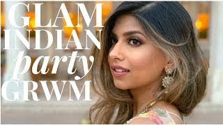 GRWM in INDIA! Skin, Makeup, Hair & Outfit!