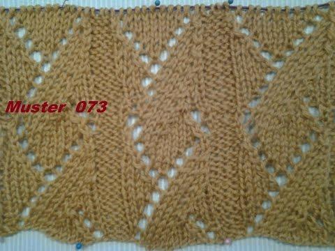 Muster  073*Stricken lernen* Muster für Pullover Strickjacke Mütze*Tutorial Handarbeit