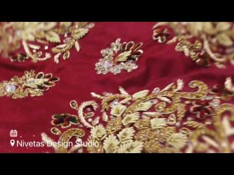 b4704391f7c Royal antique work on bridal lehenga by nivetas design studio - YouTube