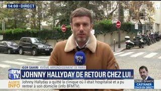 Johnny Hallyday a quitté la clinique où il était hospitalisé pour retrouver son domicile