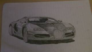 Bugatti Veyron Pencil Drawing