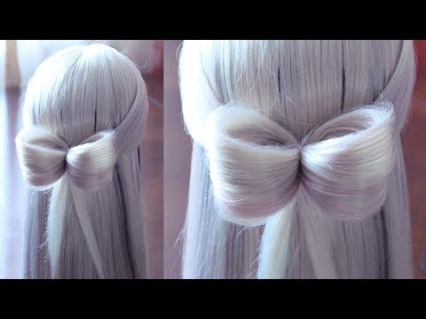 Hairstyle for school - Бантик из волос на резинке - Hairstyles by REM