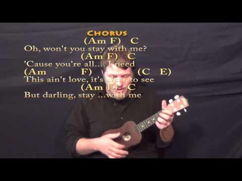 Stay With Me (Sam Smith) Ukulele Cover Lesson With Chords/Lyrics