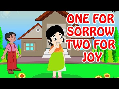One For Sorrow Two For Joy | Animated Nursery Rhyme in English