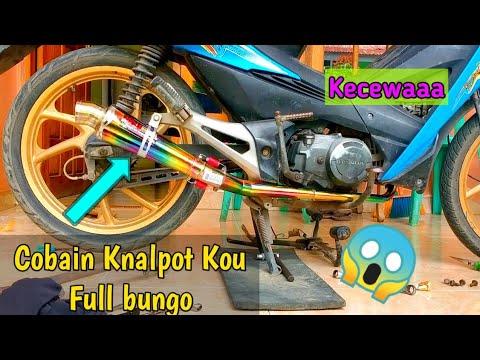 Pasang knalpot KOU Full bungo pada motor revo old