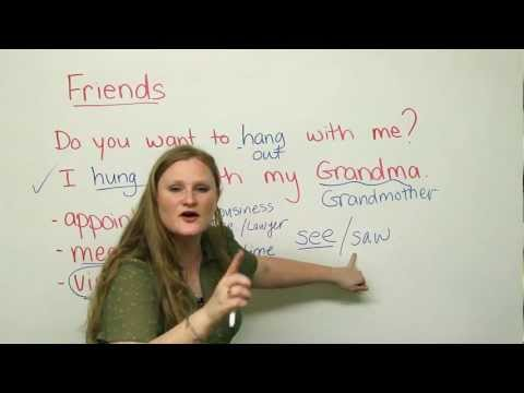 How to talk about your friends in English