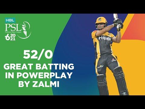 Great Batting In Powerplay By Zalmi   Peshawar Zalmi vs Multan Sultans   Match 21   HBL PSL 6   MG2T