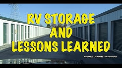 RV Storage and Lessons Learned