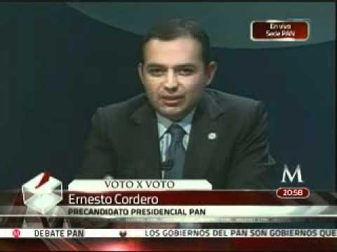 Confunde Cordero nombre de Felipe Calderón y lo llama 'Vicente Calderón'