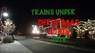 CSX & Amtrak Street Running Through Christmas Lights!  Ashland VA