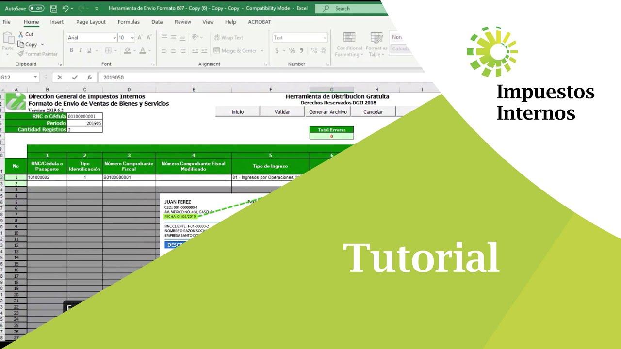 Cómo llevar las informaciones de la factura al Formato 607