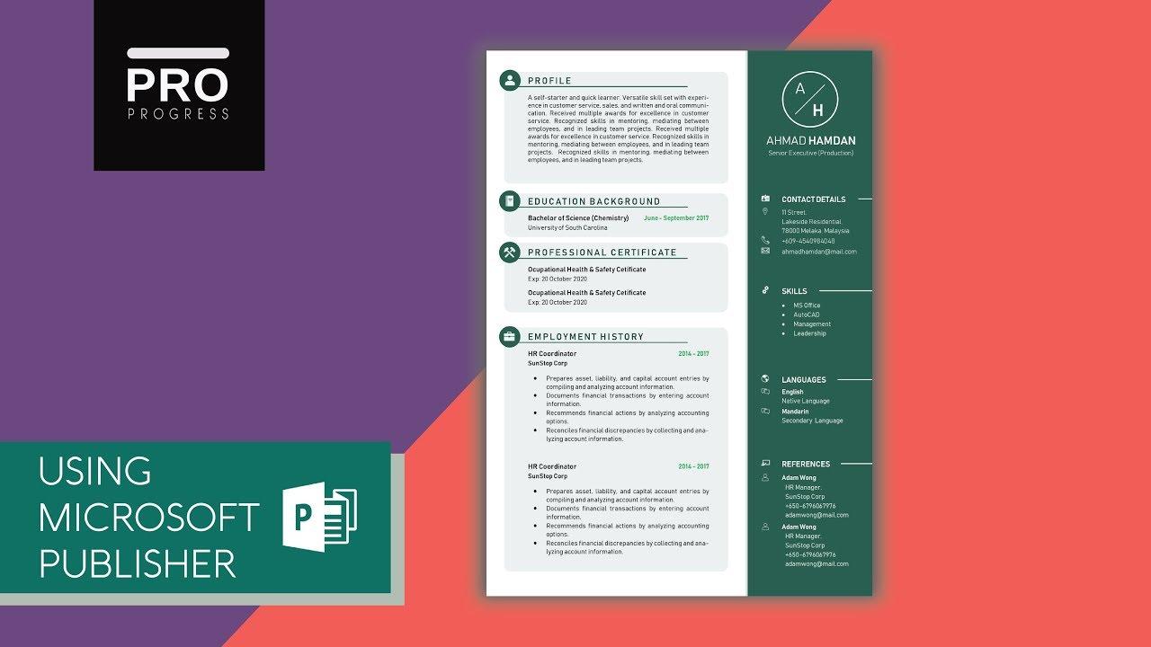template design tutorial for resume  cv