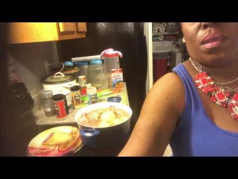 Cooking Neckbone Soup