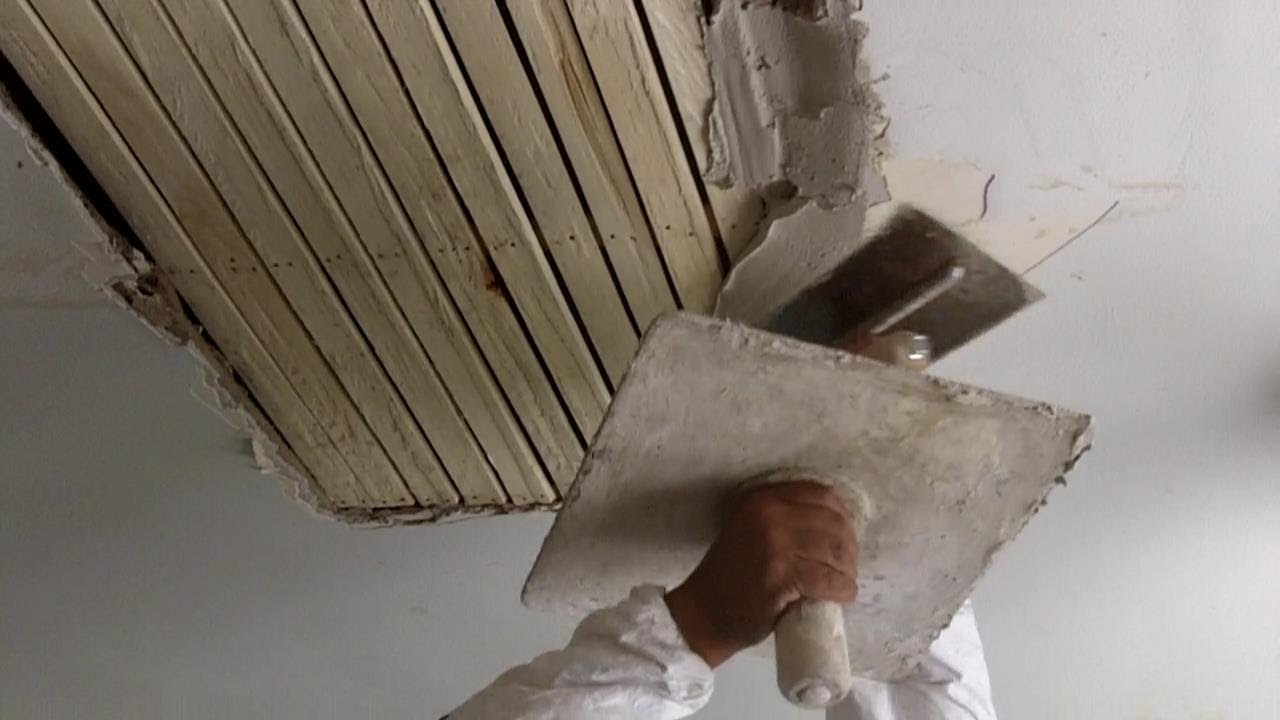 How To Do Traditional Plastering On A Wooden Lath Ceiling