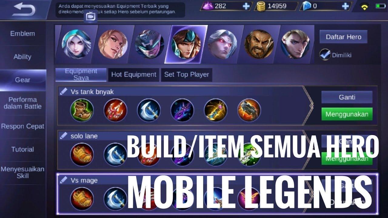 Set Gear Build Item Hero Mobile Legends Yang Harus Kamu