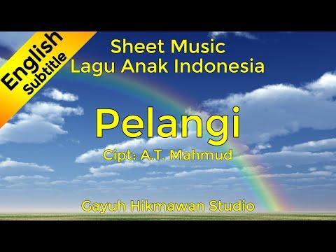 Pelangi - Sheet Music / Partitur / Not Balok (Piano) - Lagu Anak Indonesia