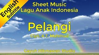 Gambar cover Pelangi - 4 Latihan & 4 Variasi - Not Balok / Partitur / Sheet Music (Piano) Lagu Anak