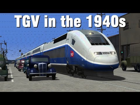 Train Simulator 2017  TGV on a 1940s Interurban Line