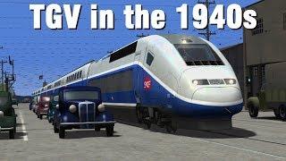Train Simulator 2017 - TGV on a 1940s Interurban Line
