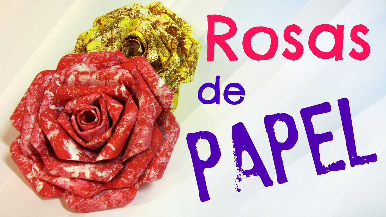 Tutorial rosas de papel paper roses youtube for Rosas de papel