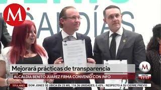 Alcaldía BJ firma convenio en materia de transparencia