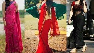 Saree mix and match Combination / Contrast Combination Blouse & Saree