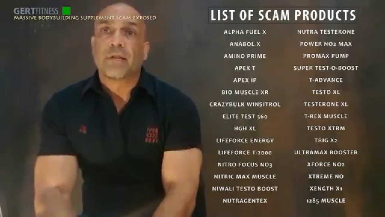 Massive Bodybuilding Supplement Scam Exposed Youtube