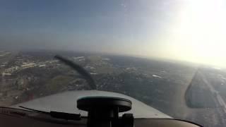 Cessna 210 Instrument Landing Practice GPS 12 Millard Nebraska